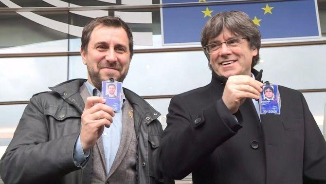 La justícia europea tomba el recurs de Vox per fer fora Puigdemont i Comín de l'Eurocambra