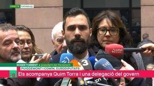 """Roger Torrent: """"Junqueras no pot exercir els seus drets perquè el mantenen empresonat il·legalment"""""""
