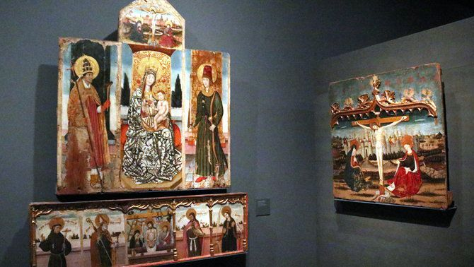 Dues de les obres de la Franja de Ponent exposades al Museu de Lleida