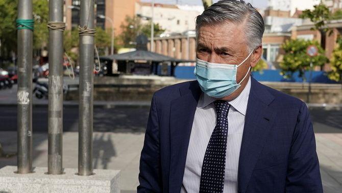 Ancelotti abans de declarar davant del jutge (Reuters)