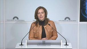 Carina Mejías, de Ciutadans, en compareixença al Parlament.