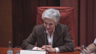 Marta Ferrusola a la comissió d'investigació