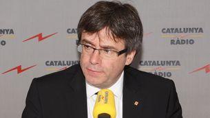 """El president de la Generalitat, Carles Puigdemont, a """"El matí de Catalunya Ràdio"""""""