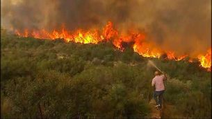 El foc de Carcaixent, cada cop més a prop de les cases