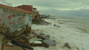 Efectes del temporal a Malgrat de Mar, al Maresme