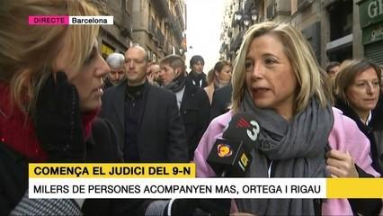 Joana Ortega agraeix l'escalf de la gent