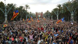 180.000 persones es manifesten a Barcelona per reivindicar l'1-O