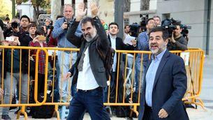 Cuixart i Sànchez arribant a l'Audiència Nacional el 16 d'octubre de l'any passat (ACN)