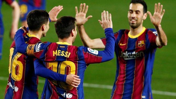El Barça surt amb l'onze de gala per rebre l'Atlètic