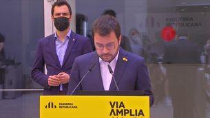 Aragonès anuncia que ERC assumeix un govern en solitari i demanen a Junts que ho faciliti tal com s'han compromès