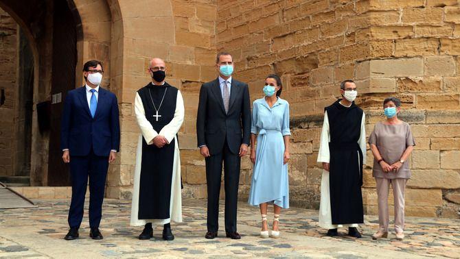 Els reis Felip i Letizia, al juliol, en una visita al monestir de Poblet