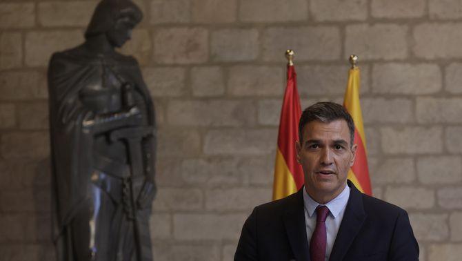Sánchez durant la compareixença