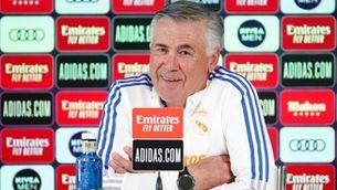 Ancelotti, durant una roda de premsa