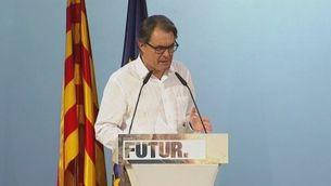 """CDC: Artur Mas demana a les entitats que liderin la unitat per fer una llista """"amb el president"""""""