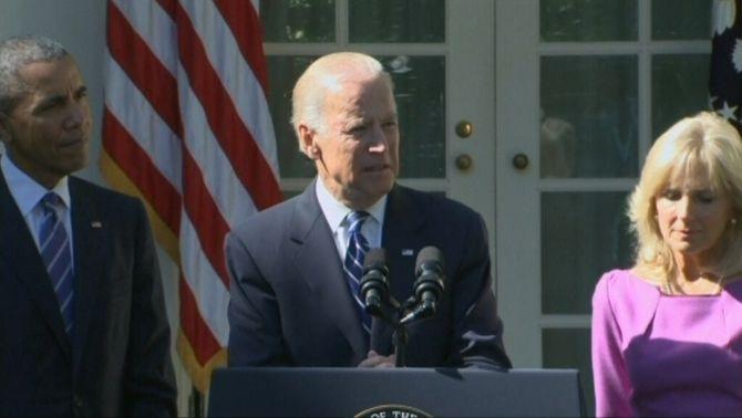 El vicepresident Joe Biden anuncia que no concorrerà a les primàries del Partit Demòcrata