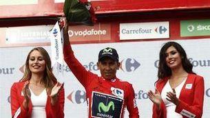 Nairo Quintana al final d'una etapa de la Vuelta (EFE)