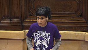Anna Gabriel nega la carta blanca als pressupostos de Carles Puigdemont