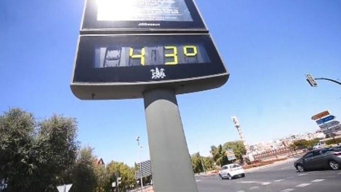 Termòmetre de carrer a Còrdova (EFE)