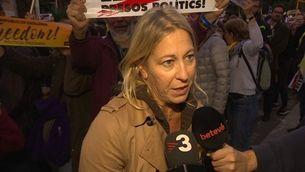 Els polítics cedeixen el protagonisme de la manifestació a les famílies dels empresonats