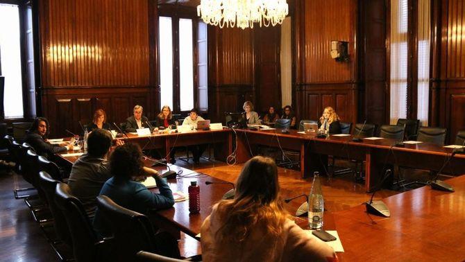 Els diputats de la comissió d'investigació sobre l'aplicació de l'Article 155, reunits aquest dimarts al Parlament (ACN)