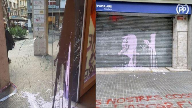 Ciutadans demana retirar fons públics a la CUP per les pintades d'Arran a la seva seu