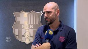 """Víctor Valdés: """"Després de passar 5 anys fora, torno amb moltes ganes d'ajudar el futbol base"""""""
