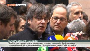 """Carles Puigdemont: """"Oriol Junqueras hauria de ser aquí amb nosaltres"""" [Vídeo]"""