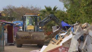 Desallotjat un assentament de barraques a Barcelona