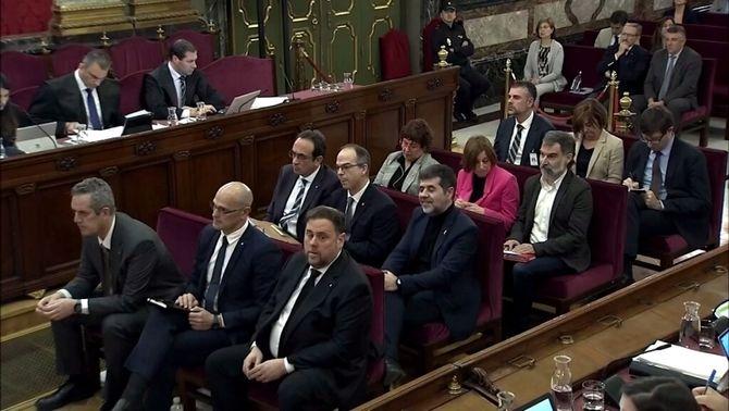 Els acusats en el judici del procés, en una sessió al Suprem