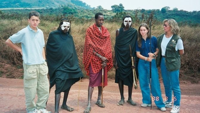 Família de Lurdes R. Basolí als anys noranta a l'Àfrica