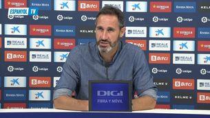 Vicente Moreno demana calma a l'afició