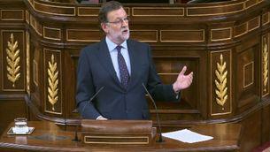 Mariano Rajoy durant el debat d'investidura d'aquest divendres