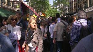 Com viuen Sant Jordi els turistes?