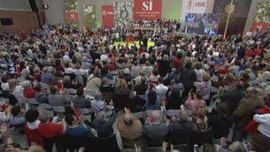 El PSOE dóna imatge d'unitat en la proclamació de Pedro Sánchez com a candidat a les generals