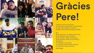 """""""L'home que no feia enemics"""", el condol per Pere Tapias a les xarxes socials"""