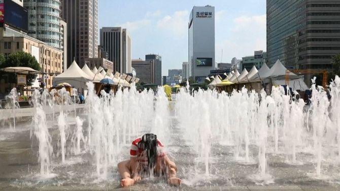 Una onada de calor bat els rècords absoluts de temperatura de Corea del sud