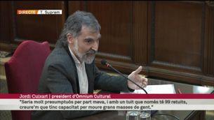 """Cuixart: """"Si jo dic 'cul a terra i resistència pacífica', no hi ha gaire marge per al dubte"""""""