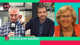 Imatge de:Diàleg BCN-Madrid: Carles Francino, Antoni Bassas i Manuela Carmena