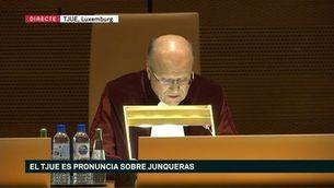 El TJUE dicta que Junqueras tenia immunitat com a eurodiputat