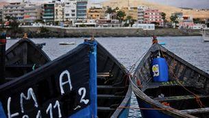 Barques al port de Gran Canària, on arriben milers d'immigrants africans