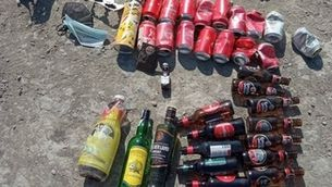 Material de botellon recollit a Osona