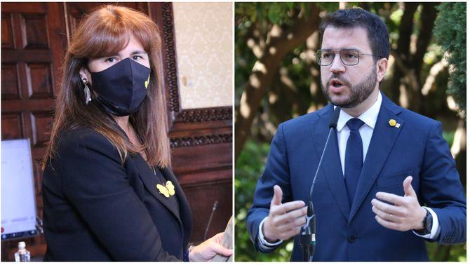 """Borràs prioritza un govern """"fort"""" i Aragonès confia tenir-lo abans d'acabar l'abril"""