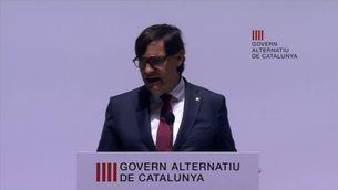 Salvador Illa reclama al president Aragonès que convoqui la taula de diàleg dels partits catalans
