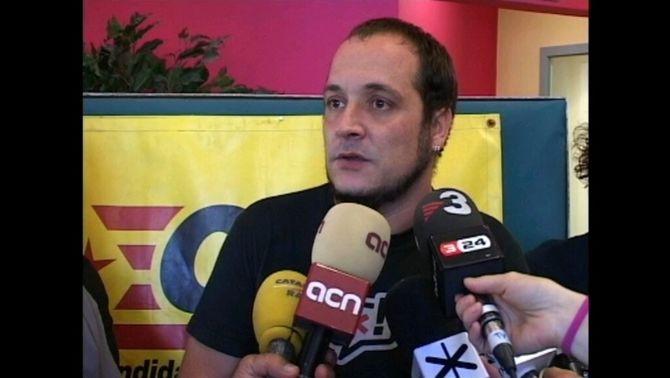 David Fernàndez, cap de llista per Barcelona de la CUP.