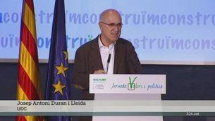 """Duran i Lleida presenta la plataforma """"Construïm"""" per recuperar el centre polític"""