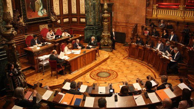 El ple de l'Ajuntament de Barcelona del 29 d'abril (ACN)