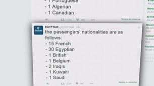 Airbus desapareix en ple vol amb 66 persones a bord