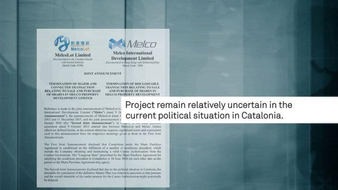 """El soci xinès de BCN World veu un futur incert del projecte """"per la situació política de Catalunya"""""""