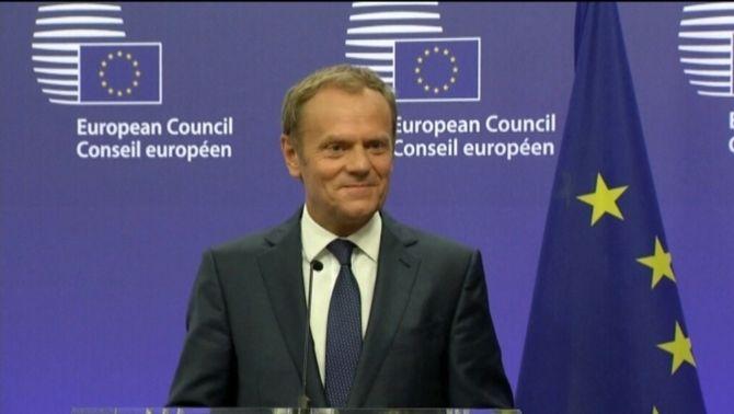 El president del Consell Europeu assegura que els 27 socis de la UE estan preparats i units després del Brexit