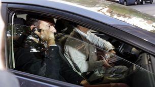 Pedro Sánchez, aquest dijous, quan arribava a la seu del PSOE a Madrid (EFE)